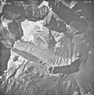 Carter Glaciers, aerial photograph FL4A-10, Montana