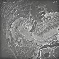 Rainbow Glacier, aerial photograph FL4A-7, Montana