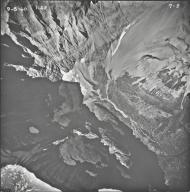 Old Sun Glacier, aerial photograph 7-5, Montana