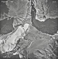 Old Sun Glacier, aerial photograph 7-7, Montana