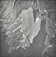 Kintla Glacier, aerial photograph FL IC-3, Montana