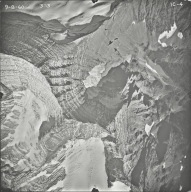 Kintla Glacier, aerial photograph FL IC-4, Montana