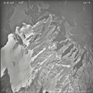 Kintla Glacier, aerial photograph FL ID-4, Montana