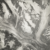 John Hopkins Glacier, aerial photograph SEA 73-135, Alaska