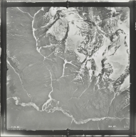 Unknown glacier in Mount Ponder/Mount Fawcett area, aerial photograph SEA 90 174, Alaska