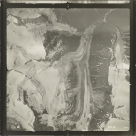 Glacier at head of Jekill River, aerial photograph SEA 90 208, British Columbia
