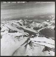 Unknown glacier at head of King's River, Alaska