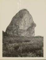 Rock carried down by Peters Glacier