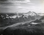 Redoubt Volcano and nearby glaciers, Alaska