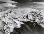 Mount Wrangell, looking up from Cheshnina Glacier, Alaska