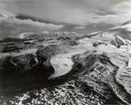 """Unknown glacier (""""Sunset Glacier"""") and Mount Sanford, Alaska"""