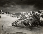 East edge of Seward Glacier, and entrance to Malaspina Glacier, Alaska