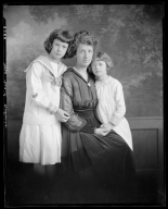 Portrait of unidentified woman and children