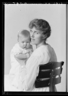 Portraits of Mrs. D. A. Worcester and child