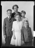 Portrait of Mrs. A. J. Swain and family