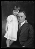 Portrait of Alva Bernard and child