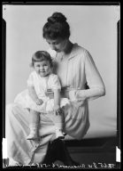 Portrait of Mrs. J. W. Anderson and child
