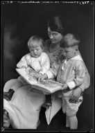Portraits of P. G. Worcester and children