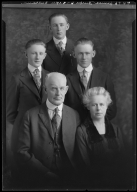Portraits of James Burke and family
