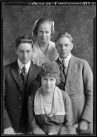 Portrait of Miss Daisy Cook and family