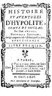 Histoire et adventures d'Hypolite, comte de Duglas