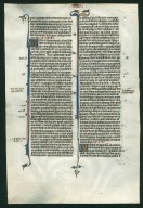Bible, illuminated. France. Reverse: Ezekiel 33:31–35:3.