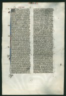 Bible, illuminated. France. Reverse: Ezekiel 33:1–33:31.