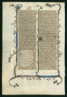 Mutilated Bible leaf [St. Albans Abbey?]