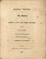 An elegiac tribute to the memory of Lieut. Gen. Sir John Moore