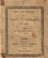 Historical questions on the Kings of England, in verse
