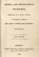 Sacred and miscellaneous poetry