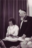 Rabbi Zalman Schachter-Shalomi giving smikhah (ordination) to Rabbi Leah Novick, pt. 3 of 3.