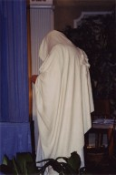 Rabbi Zalman Schachter-Shalomi clad all in white for the High Holidays.