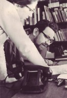 Rabbi Zalman Schachter reading a transcript with his secretary, pt. 1 of 7.