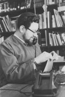 Rabbi Zalman Schachter in his office on the telephone, pt. 2 of 7.