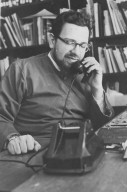 Rabbi Zalman Schachter in his office on the telephone, pt. 3 of 7.