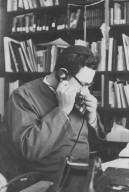 Rabbi Zalman Schachter in his office on the telephone, pt. 7 of 7.