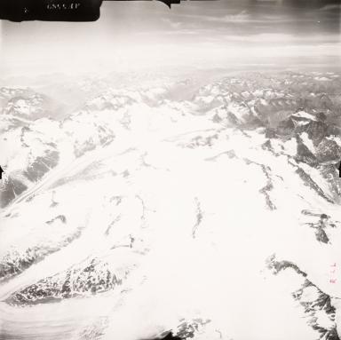 Unknown glaciers NW of Iliaman Volcano, aerial photograph FL71, Alaska, United States