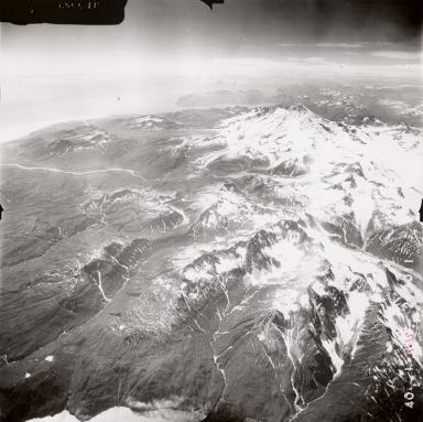 Iliamna Volcano, aerial photograph FL71, Alaska, United States