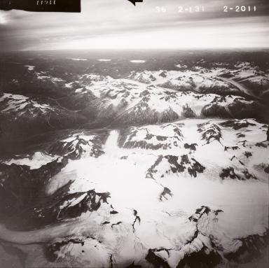 Tongue Glacier, aerial photograph FL82, Alaska, United States
