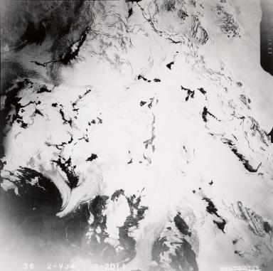Johnson Glacier, Kenai Peninsula, aerial photograph FL82, Alaska, United States