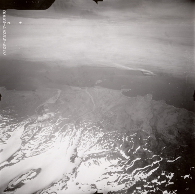 South side of Mount Vsevidof, aerial photograph FL87, Alaska, United States