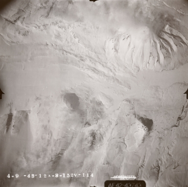 Kukak Volcano, aerial photograph FL89, Alaska, United States