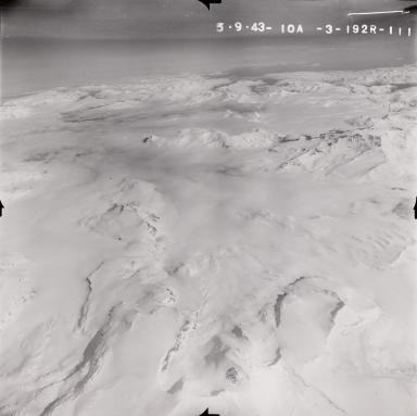 Kukak Volcano, aerial photograph FL96, Alaska, United States