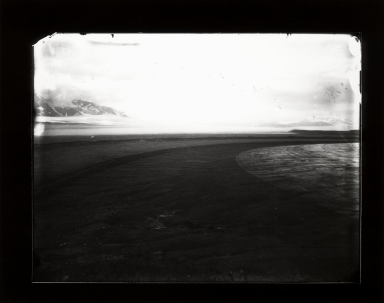 Adams Plateau Glacier, Alaska, United States. Cataloguer's note: Glass plate negative, 1892. Gelatin silver print, circa 2005. Archive holds both glass plate nad photograph print in the collection.