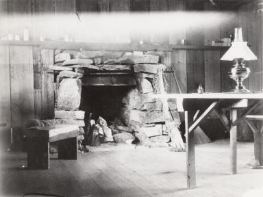 Interior of John Muir's cabin, Muir Inlet, Alaska, United States