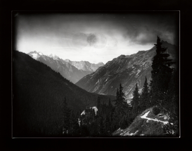 Val Bregaglia valley from Malojo pass, Graubünden, Switzerland