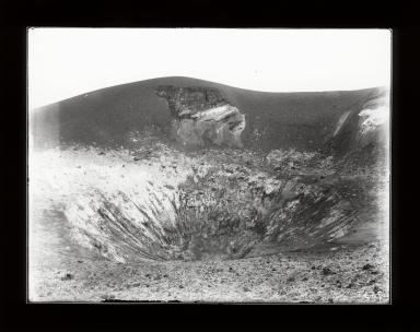 Crater of Stromboli Volcano, Sicily, Italy