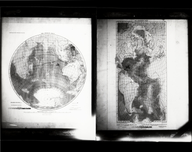 Two images of wall maps, no location