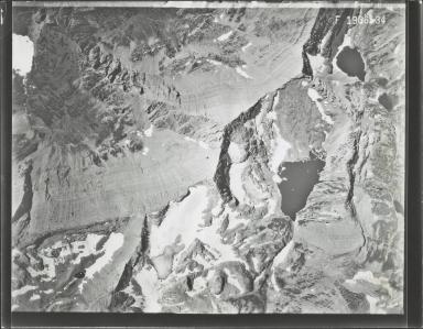 Glacier in Mission Range, aerial photograph F 1936-34, Montana